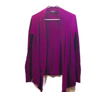 Express Purple Open Front Cardigan